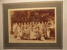 Wolfratshausen ? 1908 - Gruppe Kinder - Mädchen - Buch Geige Häkeln Spiel / Foto
