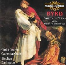Byrd: Mass for Five Voices with the Propers for All Saints' Day, New Music