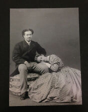 RIPRODUZIONE FOTO ALINARI RITRATTO IN SALA DI POSA 9X12 CM 1890 (1)