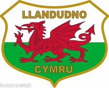 Llandudno Welsh Dragon Flag Caravan Exterior Vinyl Stickers Wales Cymru Decals