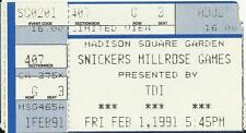VINTAGE 1991 NEW YORK millrose Games TICKET-Stub-ATLETICA LEGGERA-Track and Field