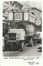 Transport Postcard - Silver Queen Buses in Colchester c1921 [Lamb Hotel]  S761