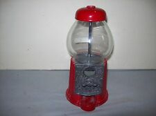 Petite/Small Carousel Gumball Machine/Bank - 9-inch Glass and Metal Coin Operate