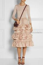 NO. 21 Gigliola ruffled silk-organza skirt UK8-10 US4-6 Dress RRP £1,115