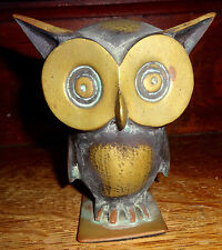 ANTIQUE VINTAGE Bosse Hagenauer Austria Art Deco Mid Century Owl Bookend Bronze