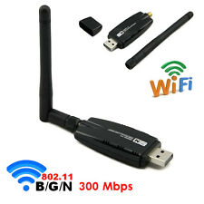 USB WLAN WiFi Wireless LAN Stick Dongle Adapter 300Mbit 300Mbps SMA + Antenne N