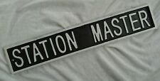 STATION MASTER.  RAILWAY ~CAST IRON WALL SIGN. New.