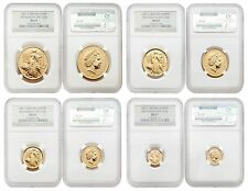 Great Britain 2001 Britannia (Una and the Lion) 4 pc 1.85 oz Gold NGC MS-67 Set