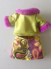 "GROOVY GIRLS DOLL PLUSH 13"" Adrianna 06 Skirt Top Clothing MANHATTAN TOY outfit"