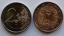 France 2016 UEFA European Soccer Football Championships 2 Euro coin - BU - NEW!