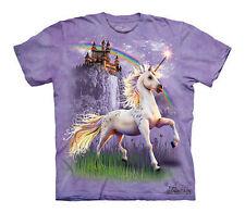 The Mountain Unicorn Castle Magical Rainbow Fairytale Fantasy Shirt Child Medium