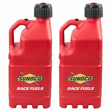 2 Pack Sunoco Racing Red 5 Gallon Race Gas Alcohol Diesel Can Fuel Jug