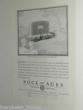1930 Rock of Ages ad, Tombstone Headstone, carved Hass