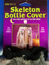Skull Bottle Cover Skeleton Purple Grey Halloween Cocktail Party Decoration