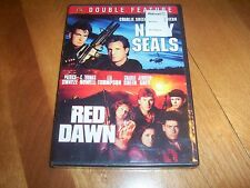 NAVY SEALS RED DAWN Double Feature 2 War Movies Charile Sheen DVD SEALED NEW
