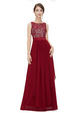 Women's Bridesmaid Evening Gown Formal Party Prom Dress Lace Long Maxi Dresses