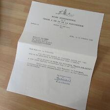 LETTRE TAPUSCRITE DE HENRI DE LINARES 1960 CHASSE FAUCONNERIE