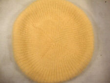 """Classy Slouch French Beret Hat Warm Beanie Solid Beige 9.5"""" Ribbed Artist Cap"""