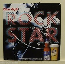 LABATT BLUE LIGHT BEER Metal Sign Canadian Pilsener ROCK STAR Music background
