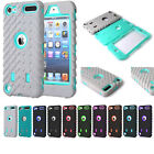 iPod Touch 6 6Th /5 5th Gen HARD SOFT RUBBER HIGH IMPACT ARMOR CASE HYBRID COVER