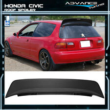92-95 Honda Civic 3Dr EG6 Hatchback ABS Black JDM BYS Style Roof Spoiler Wing