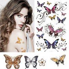Amazing 3D Butterfly Tattoo Sticker Temporary Body Art Waterproof Henna Tatoo