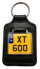 Yamaha Xt 600 Cherished Number Plate Motorcycle Leather Keyring Gift