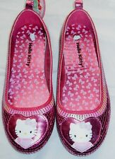 Shoes girls size 2M new EUR34 Hello Kitty dress sequins ballet flats insole 7.7""