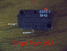 MICROWAVE OVEN WB24X10038 WB24X10076 GSM-V1603A2 28QBP0497 MICRO SWITCH FA63