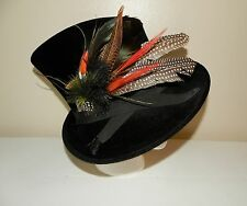 NEW Authentic Stunning PHILIP TREACY LONDON Black Sidesweep Feather Hat