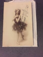 Beatrice Giffiths Ballet Dancer Ink Signed Photo Postcard
