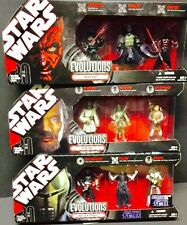 Star Wars Evolutions LOT OF 3 Sets: Sith Legacy / Force Unleashed / Jedi Legacy