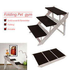 Dog Pet Stairs Steps Indoor Ramp Portable Folding Animal Cat Ladder High Bed Hm
