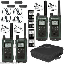 Motorola Talkabout T465 Walkie Talkie 4 Pack 35 Mile Two Way Radio Case Earbuds
