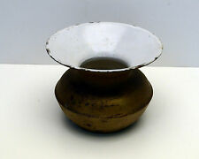 Antique Cast Iron Spittoon Porcelain Inside JMH