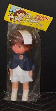 """Vintage Nurse Doll 9"""" Tall Full Outfit In Original Package Made In Hong Kong"""