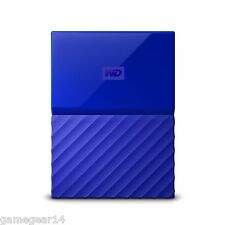 Western Digital WD My Passport 1TB Portable External Hard Drive Disk Blue