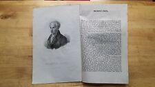 1835 Ritratto con Estratto: Avvocato Michele Gigli (Roma 1790), Filantropo