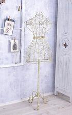 MANNEQUIN DU COUTURIER Buste vitrine Figure en fer Vintage Buste