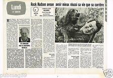 Coupure de presse Clipping 1983 (2 pages) Rock Hudson