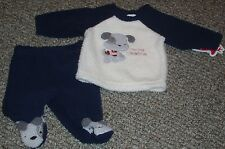 NWT boys FIRST MOMENTS 2pc set MY 1ST CHRISTMAS puppy TOP bottoms SZ 3 mths
