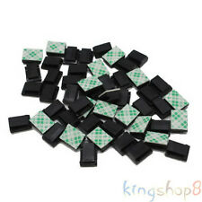 50x Car Interior Data Tie Cable Mount Wire 3M Fixed Clips Holders Self-adhesive