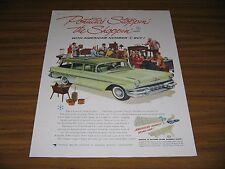 1957 Print Ad '57 Pontiac Star Chief Station Wagon Strato-Streak V-8