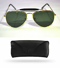 Aviator Gold Outdoor Sunglasses Premium Quality For Men & Women FREE COVER