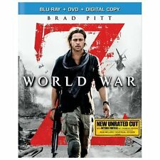 """World War Z"" (2013 Blu-ray & DVD 2-Disc Set) Brad Pitt - Used"
