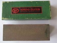 grosser KORUND Ölstein Schleifstein Abziehstein Uhrmacher Goldschmied Werkzeug