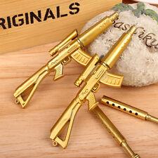 1Stk 0,38mm Gold Gewehr Gun Form Schwarzer Tinte Kugelschreiber Briefpapier