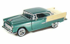 1955 Chevrolet Bel Air Hard Top Green/Beige Diecast Model Car 1:24 Motor Max