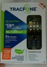 NEW Tracfone Huawei H110C No Contract Numeric Keys 1.3MP Camera Cell Phone BLACK
