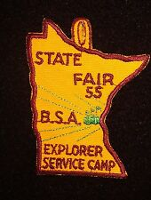 BOY SCOUT   MINNESOTA STATE FAIR 1955 EXPLORER SERVICE CAMP PP